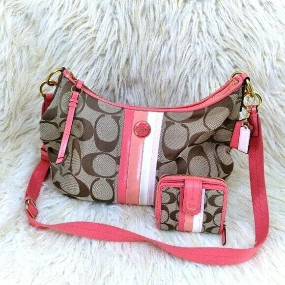 Coach Handbag & Wallet Set